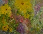 Gelbe Blume  - Öl-